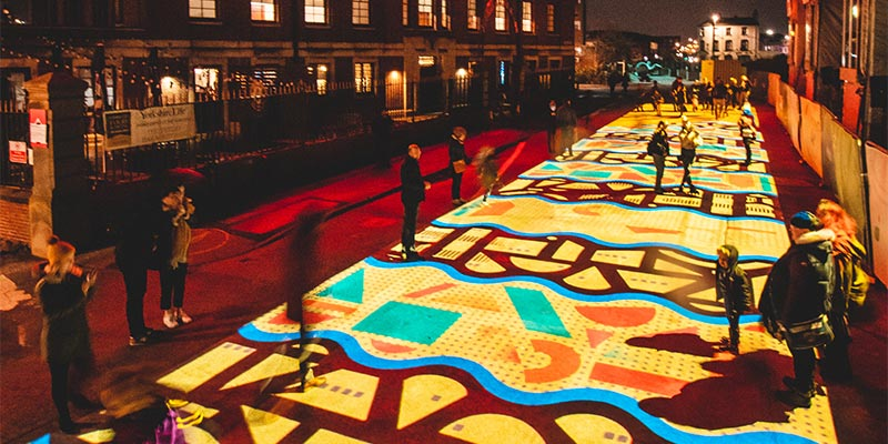 Pleasance by Novak, The Tetley at Light Night Leeds, Leeds West Yorkshire (photo by Thomas Wilson)