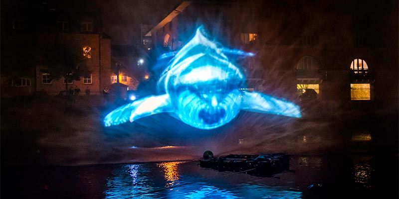 Whale Song at Light Night Leeds, Leeds West Yorkshire (photo by Lizzie Coombes)