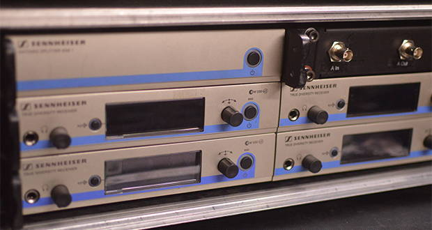 Sennheiser 500 Series 4-way receiver rack